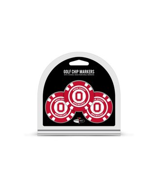 Team Golf OHIO STATE BUCKEYES 3 Pack Golf Chip Ball Markers