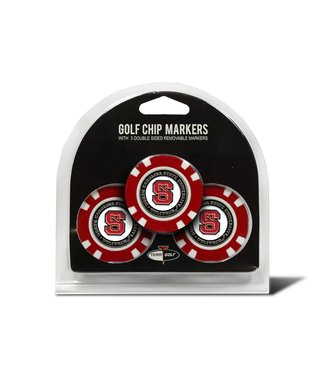 Team Golf NC STATE WOLFPACK 3 Pack Golf Chip Ball Markers