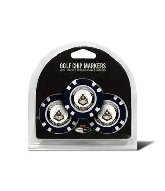 Team Golf PURDUE BOILERMAKERS 3 Pack Golf Chip Ball Markers