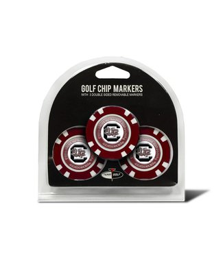 Team Golf SOUTH CAROLINA GAMECOCKS 3 Pack Golf Chip Ball Markers