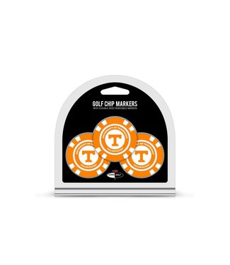 Team Golf TENNESSEE VOLUNTEERS 3 Pack Golf Chip Ball Markers