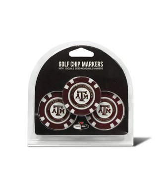 Team Golf TEXAS A&M AGGIES 3 Pack Golf Chip Ball Markers