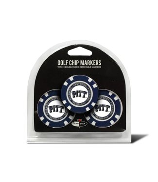 Team Golf PITT PANTHERS 3 Pack Golf Chip Ball Markers