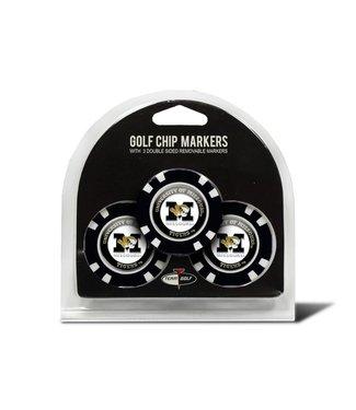 Team Golf MISSOURI TIGERS 3 Pack Golf Chip Ball Markers