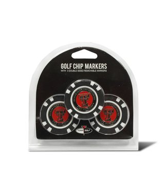 Team Golf TEXAS TECH RED RAIDERS 3 Pack Golf Chip Ball Markers