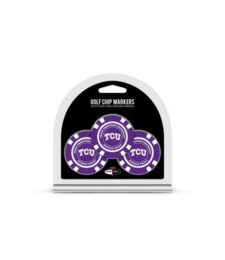 Team Golf TCU HORNED FROGS 3 Pack Golf Chip Ball Markers