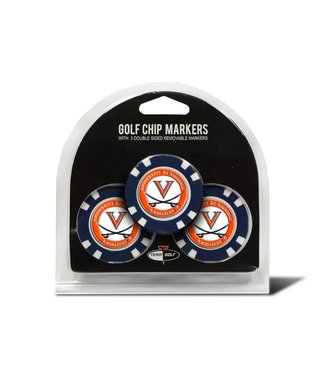 Team Golf VIRGINIA CAVALIERS 3 Pack Golf Chip Ball Markers
