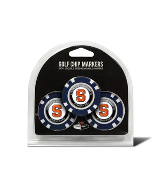 Team Golf SYRACUSE ORANGE 3 Pack Golf Chip Ball Markers