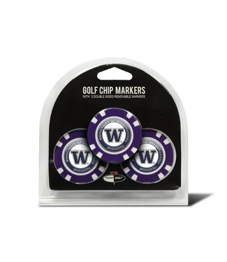 Team Golf WASHINGTON HUSKIES 3 Pack Golf Chip Ball Markers