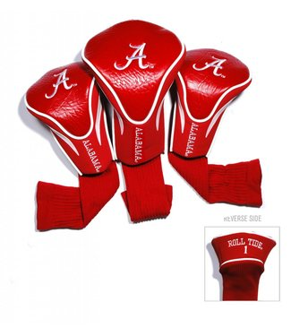 Team Golf ALABAMA CRIMSON TIDE 3 Pack Contour Golf Head Covers