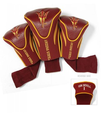 Team Golf ARIZONA STATE SUN DEVILS 3 Pack Contour Golf Head Covers