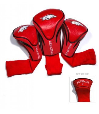 Team Golf ARKANSAS RAZORBACKS 3 Pack Contour Golf Head Covers