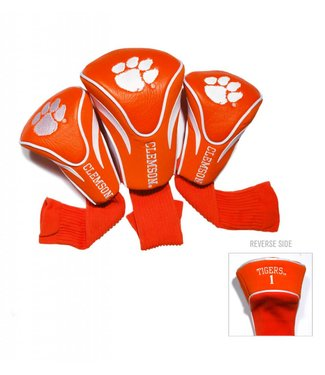 Team Golf CLEMSON TIGERS 3 Pack Contour Golf Head Covers
