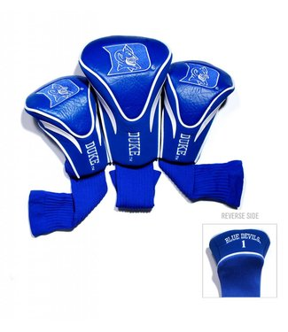 Team Golf DUKE BLUE DEVILS 3 Pack Contour Golf Head Covers