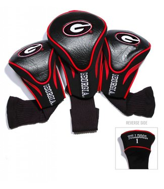 Team Golf GEORGIA BULLDOGS 3 Pack Contour Golf Head Covers