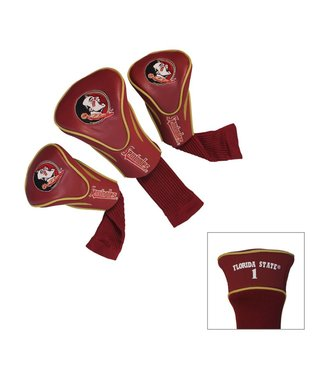 Team Golf FLORIDA STATE SEMINOLES 3 Pack Contour Golf Head Covers