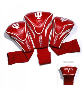 Team Golf INDIANA HOOSIERS 3 Pack Contour Golf Head Covers