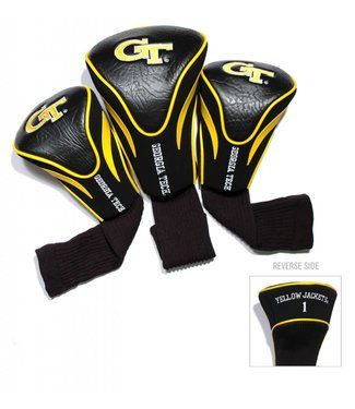 Team Golf GEORGIA TECH YELLOW JACKETS 3 Pack Contour Golf Head Covers