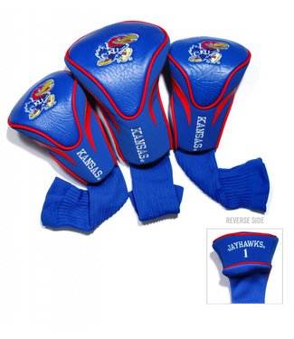 Team Golf KANSAS JAYHAWKS 3 Pack Contour Golf Head Covers