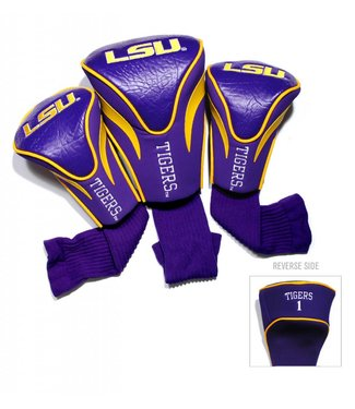 Team Golf LSU TIGERS 3 Pack Contour Golf Head Covers