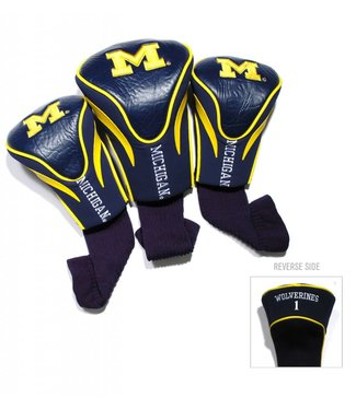 Team Golf MICHIGAN WOLVERINES 3 Pack Contour Golf Head Covers