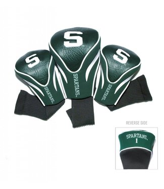 Team Golf MICHIGAN STATE SPARTANS 3 Pack Contour Golf Head Covers