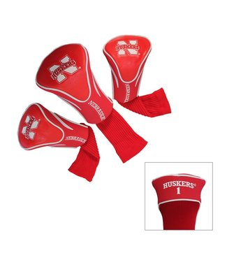 Team Golf NEBRASKA CORNHUSKERS 3 Pack Contour Golf Head Covers