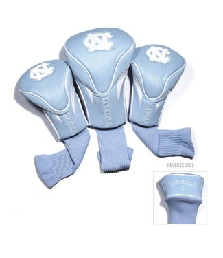 Team Golf NORTH CAROLINA TAR HEELS 3 Pack Contour Golf Head Covers