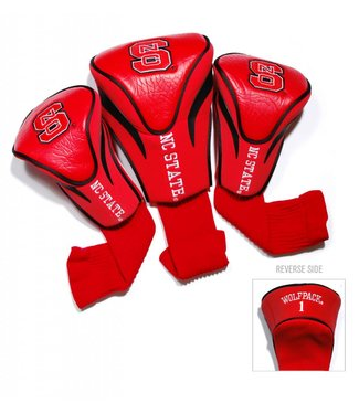 Team Golf NC STATE WOLFPACK 3 Pack Contour Golf Head Covers