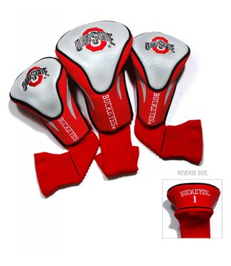 Team Golf OHIO STATE BUCKEYES 3 Pack Contour Golf Head Covers