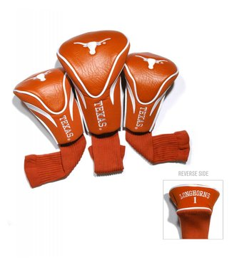 Team Golf TEXAS LONGHORNS 3 Pack Contour Golf Head Covers