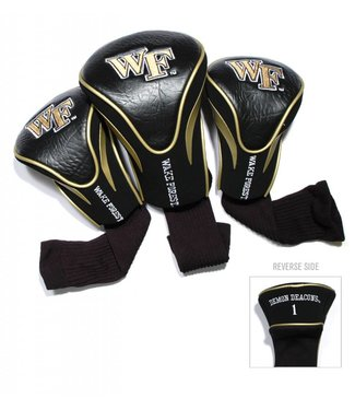 Team Golf WAKE FOREST DEMON DEACONS 3 Pack Contour Golf Head Covers