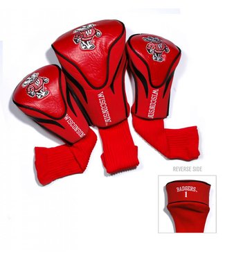 Team Golf WISCONSIN BADGERS 3 Pack Contour Golf Head Covers