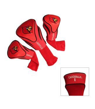 Team Golf LOUISVILLE CARDINALS 3 Pack Contour Golf Head Covers