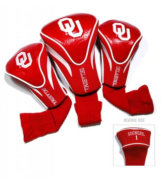 Team Golf OKLAHOMA SOONERS 3 Pack Contour Golf Head Covers