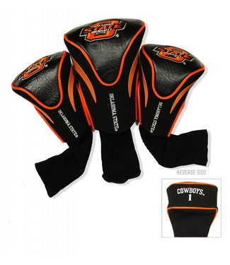 Team Golf OKLAHOMA STATE COWBOYS 3 Pack Contour Golf Head Covers