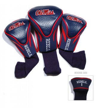 Team Golf OLE MISS REBELS 3 Pack Contour Golf Head Covers