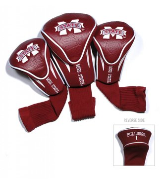 Team Golf MISSISSIPPI STATE BULLDOGS 3 Pack Contour Golf Head Covers