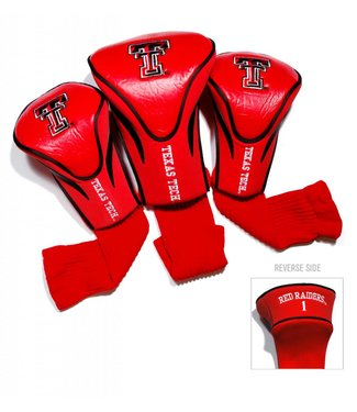 Team Golf TEXAS TECH RED RAIDERS 3 Pack Contour Golf Head Covers