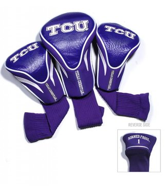 Team Golf TCU HORNED FROGS 3 Pack Contour Golf Head Covers