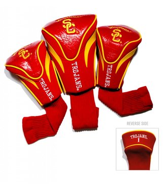 Team Golf USC TROJANS 3 Pack Contour Golf Head Covers
