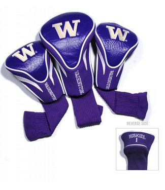 Team Golf WASHINGTON HUSKIES 3 Pack Contour Golf Head Covers
