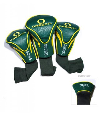 Team Golf OREGON DUCKS 3 Pack Contour Golf Head Covers