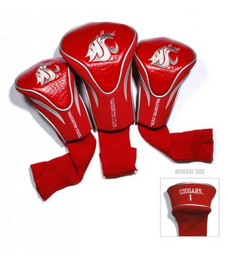 Team Golf WASHINGTON STATE COUGARS 3 Pack Contour Golf Head Covers