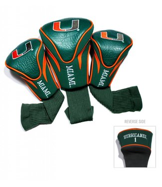 Team Golf MIAMI HURRICANES 3 Pack Contour Golf Head Covers