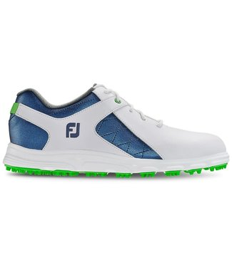 Footjoy BOYS PRO S/L WHITE/BLUE 45039