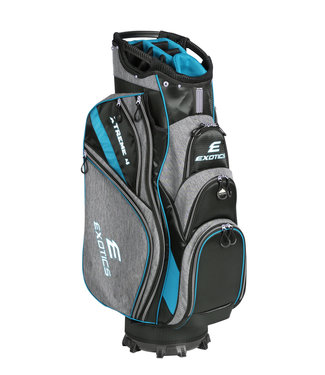 Tour Edge EXOTICS EXTREME 4 CART BAG GRAY SCRATCH PLAID/BLUE