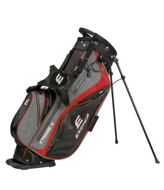 Tour Edge EXOTICS EXTREME 4 STAND BAG GRAY/SCRATCH PLAID/RED