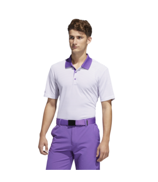 Adidas 2-COLOR CLUB MERCH STRIPE POLO SHIRT WHITE/ACTIVE PURPLE