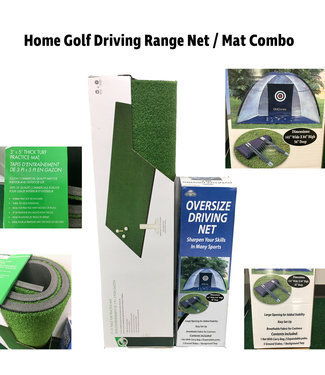 On Course Home Golf Driving Range Net / Mat Combo